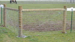 Click for larger photo of horse fence corner installation